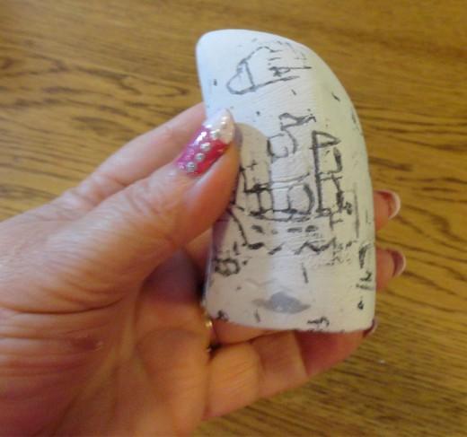 My plaster faux Scrimshaw