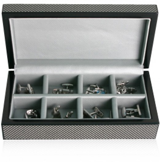 Cufflinks UK also sells accessories such as this 8 Pair Carbon Fiber Cufflinks Box