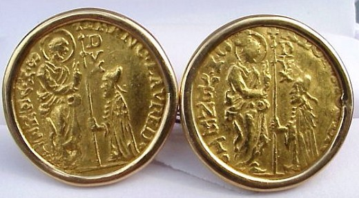 Vintage cufflinks crafted from precious gold coins can be almost priceless!