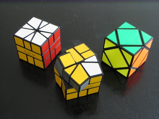 3 Rubic's cubes.