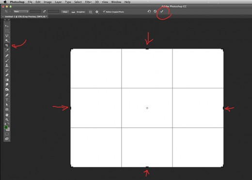 Drag the corners to adjust the size and crop.