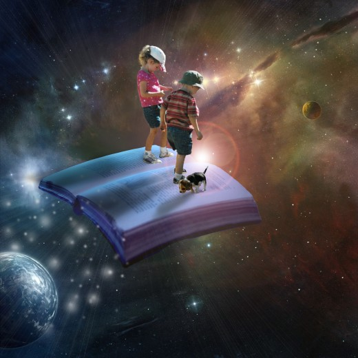Photo Composite about the joy of reading
