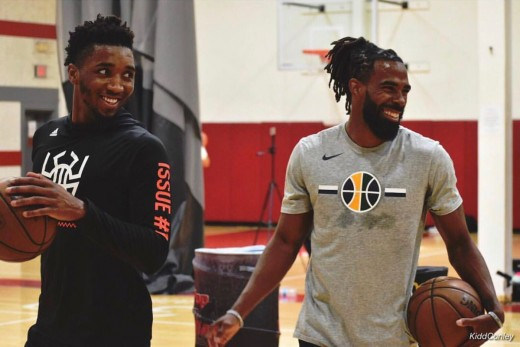 Mike Conley and Donovan Mitchell