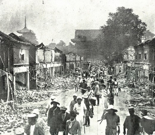 Destruction caused by the 1923 Kantoearthquake.