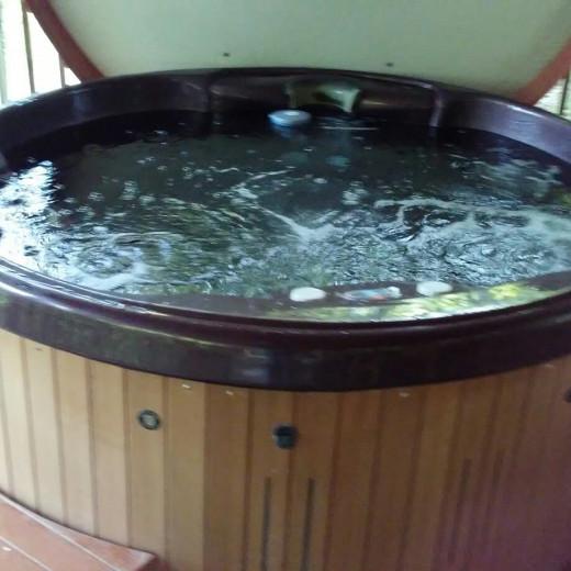 Hot tub Heaven at Cabin #8!