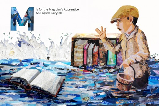 The Magician's Apprentice from The FairyTale Alphabet Book by Denise McGill