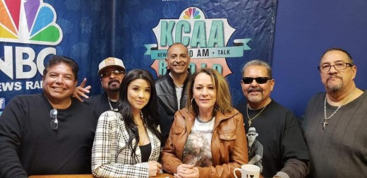 Team Brittany along with song producer, Carlos Guillien on KCAA Radio.