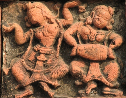 Dancers on Madanmohan temple ,Bishnupur.