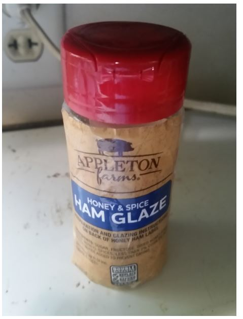 I put the ham glaze powder in a bottle for easy shaking