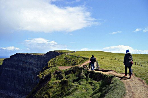 Energetic visitors will walk much farther along the cliff path.