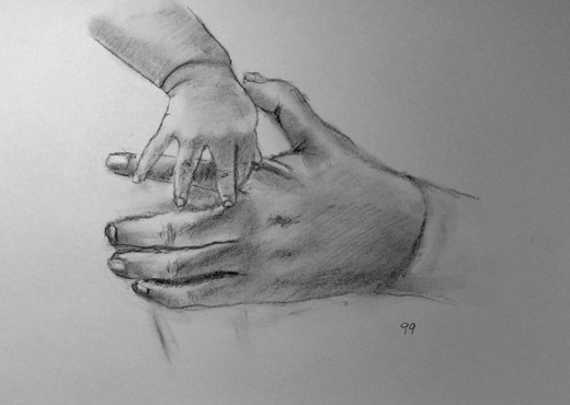 Exercise in drawing hands