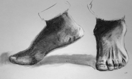 Exercise drawing feet