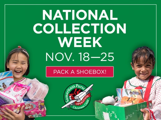 The 2019 National Collection Week for OCC is November 18-25.