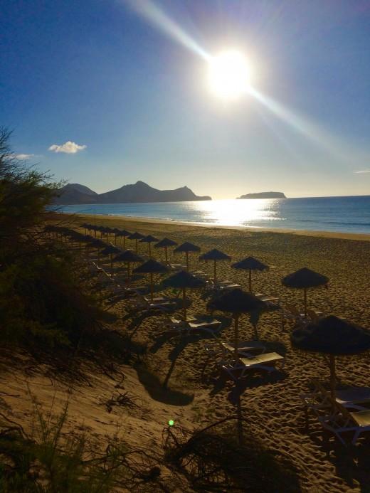 Porto Santo: Not a sinner on the beach