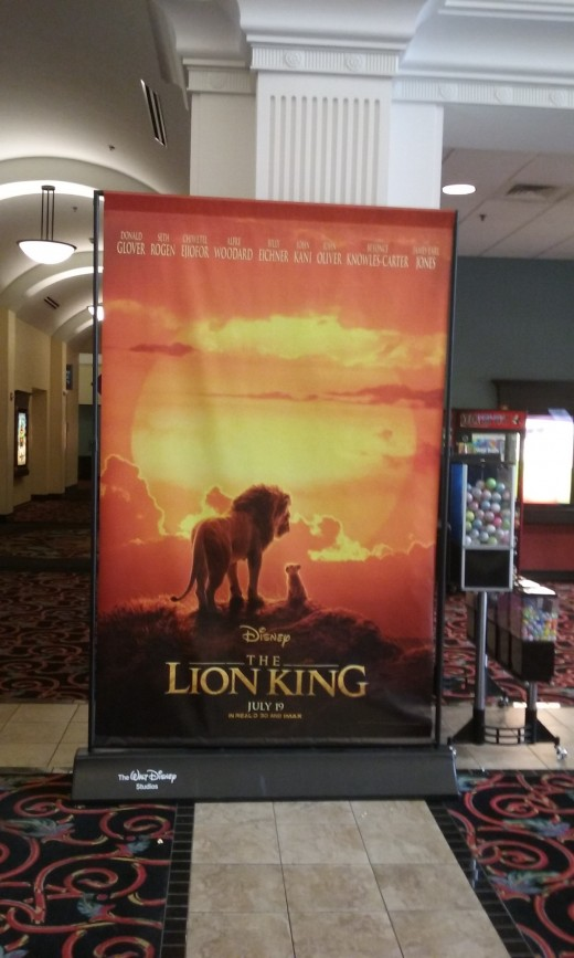 Movie poster on display in a Virginia theatre, July 2019.
