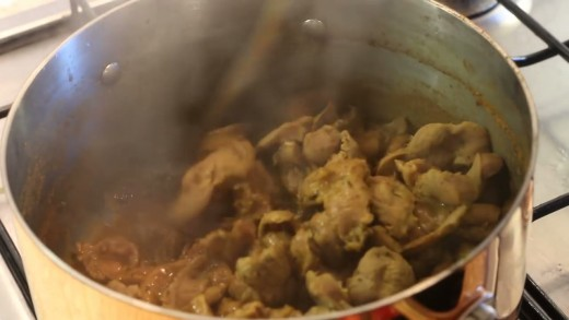 Subsequently, boil the seasoned gizzards and allow it to soak up all the spices