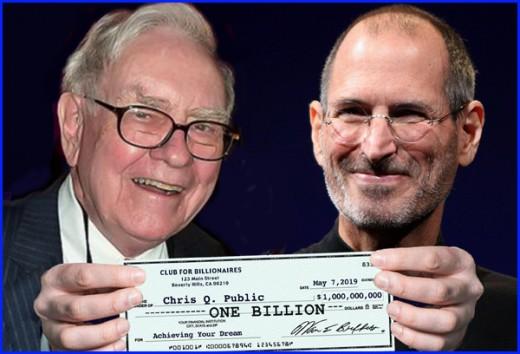 Warren Buffett and Steve Jobs were two of America's first billionaires.