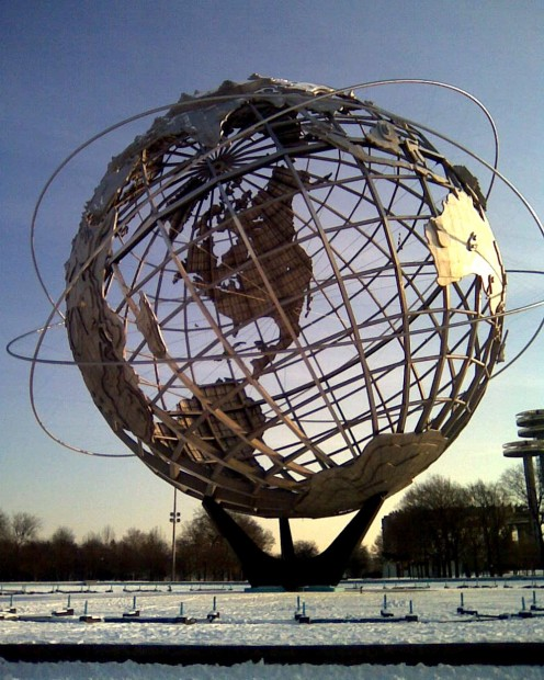 Flushing Meadows Corona Park in winter.