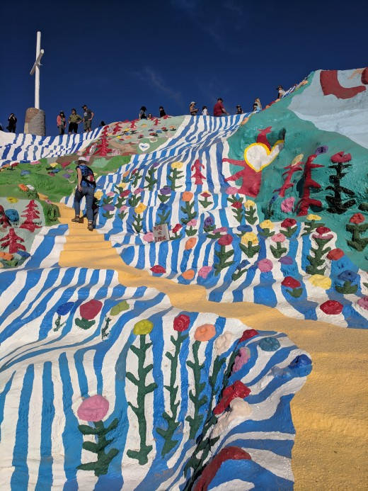 Path leading to top of Salvation Mountain