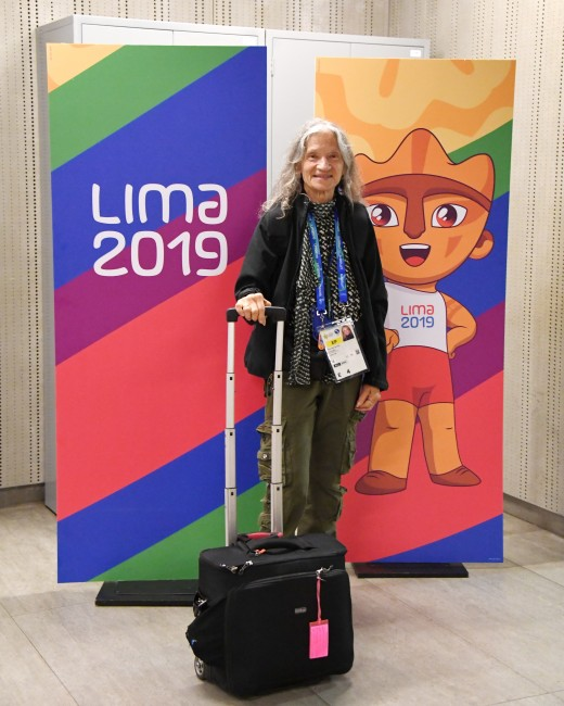 Here I am with my trusty Think Tank Bag ready to take the Pan American Games journey.