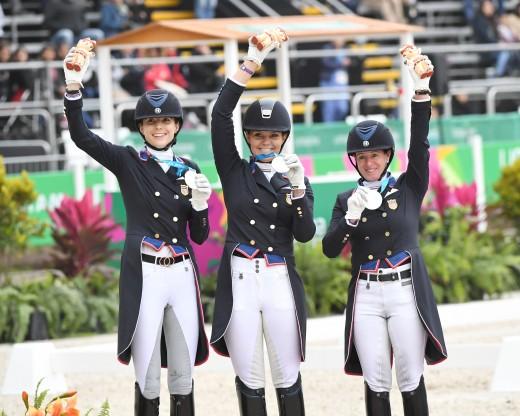 (l-r) Nora Batchelder, Sarah Lockman and Jennifer Baumert win Team Silver.
