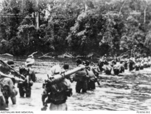 PAVN soldiers on the march.
