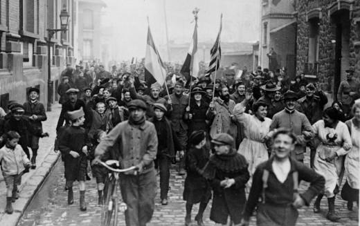 Armistice celebrations in 1918