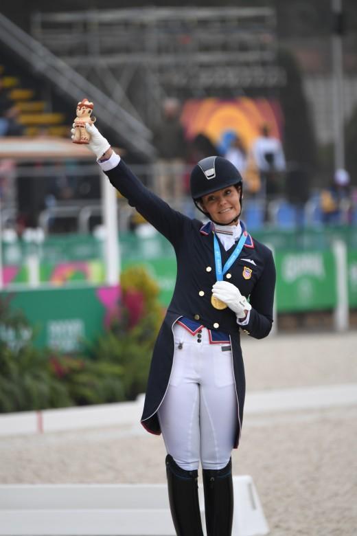Sarah Lockman claims the gold medal.