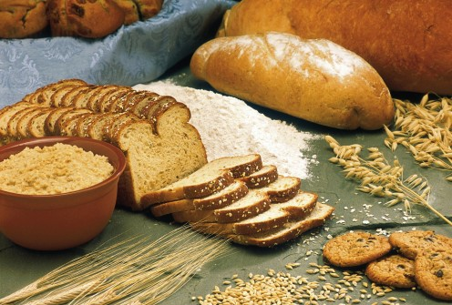 Whole grains provide fiber, vitamins, minerals, and phytochemicals.