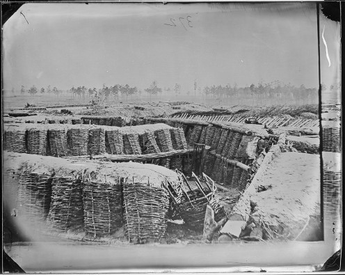 Confederate Trenches made to protect their capital from Union invasion in 1965.