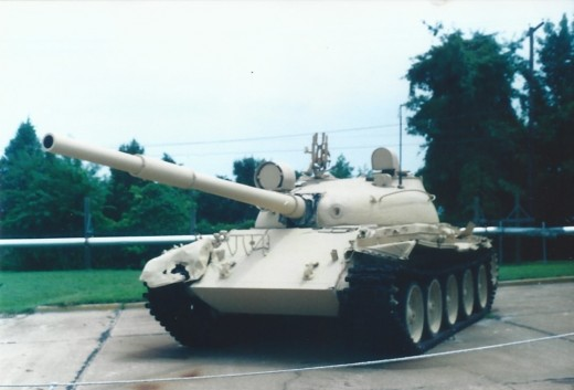 A Soviet made T-61 tank outside the Marine Air-Ground Museum.
