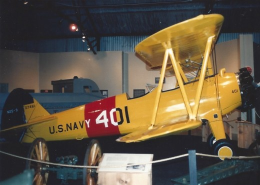 A US Navy Trainer, at the Marine Air-Ground museum.