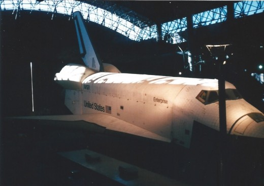 The Space Shuttle Enterprise at the Udvar-Hazy Center, Virginia.