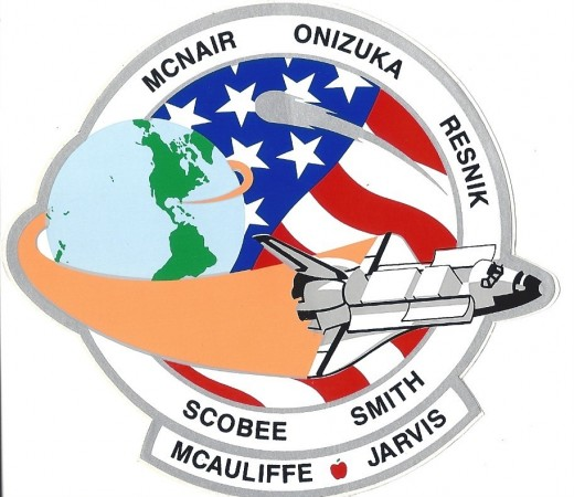 A decal of the STS-51-L mission patch.  NASA gave this patch to me in response to a letter on an unrelated matter.