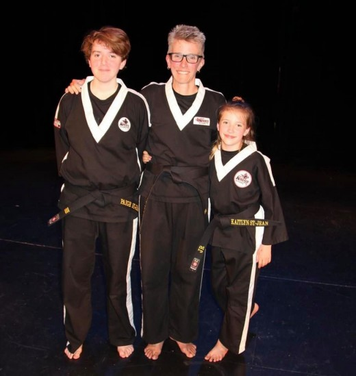 A family of black belts.
