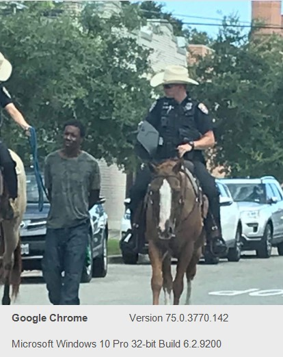 Speechless is my only word. This conduct by police is warranted in Galveston, Texas.