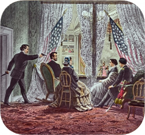 """""""Honest Abe"""" abolished slavery. The assassination of President Abraham Lincoln in the Ford's Theater"""