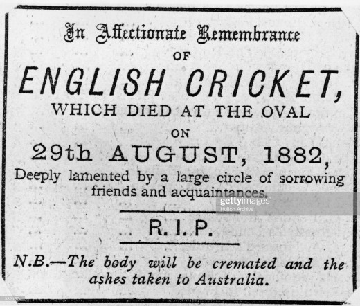 The now famous headline, as it appeared in The Sporting Times