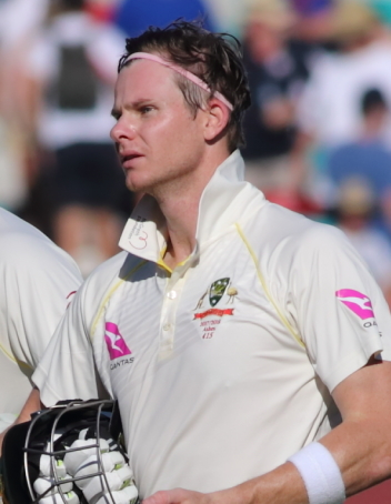 Steve Smith during the 2017/18 Ashes series, where he averaged an astonishing 137.40 runs.