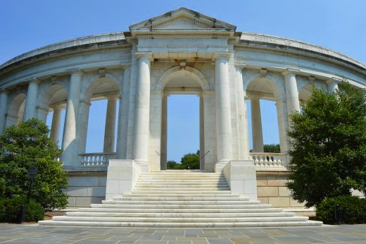 The white-marbled Arlington Amphitheater is the site of three major ceremonies every year.