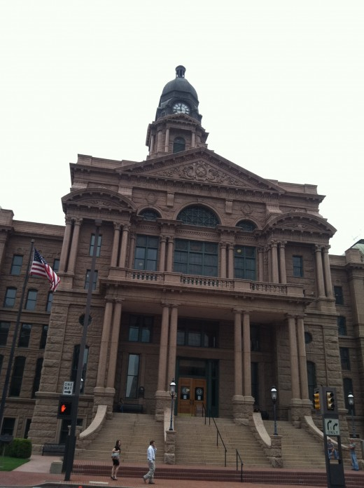 That was his courthouse, still in use.