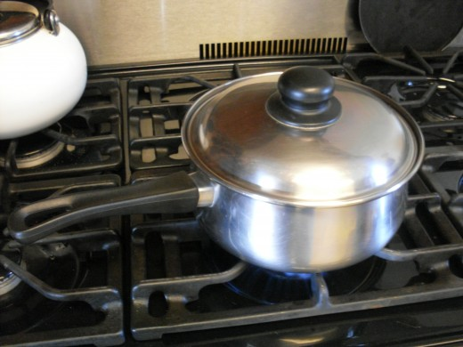 Have a pot of water on to boil.