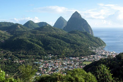 St. Lucia's lush landscape is a major draw for this eastern Caribbean island.