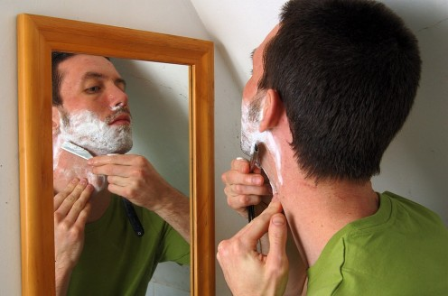 There was a time when men used a straight razor to shave.