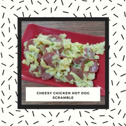 How to Cook Cheesy Chicken Hot Dog Scramble