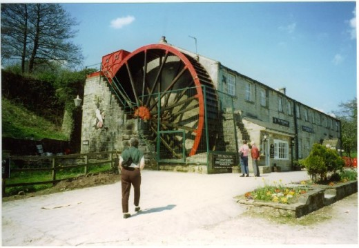 Foster Beck Watermill, owned at the time of this photograph by Scottish & Newcastle Brewery (see the logo on the wall board, left). We stopped off here in the 1990s on our way north to Wensleydale. It was later a night club, now a private residence
