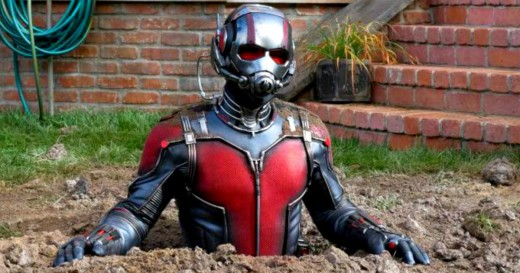 Ant-Man in learning about ants.