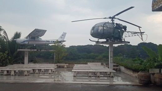 Aircraft on display at the Art Gallery & War Museum next to the River Kwai.