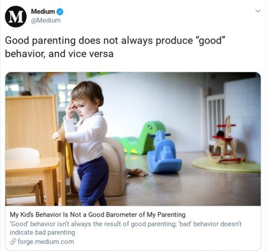 An example of evergreen content. No matter the season or trending topic, this piece on parenting will always be relevant.