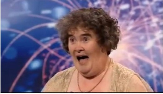 Susan Boyle.  Source:  YouYube